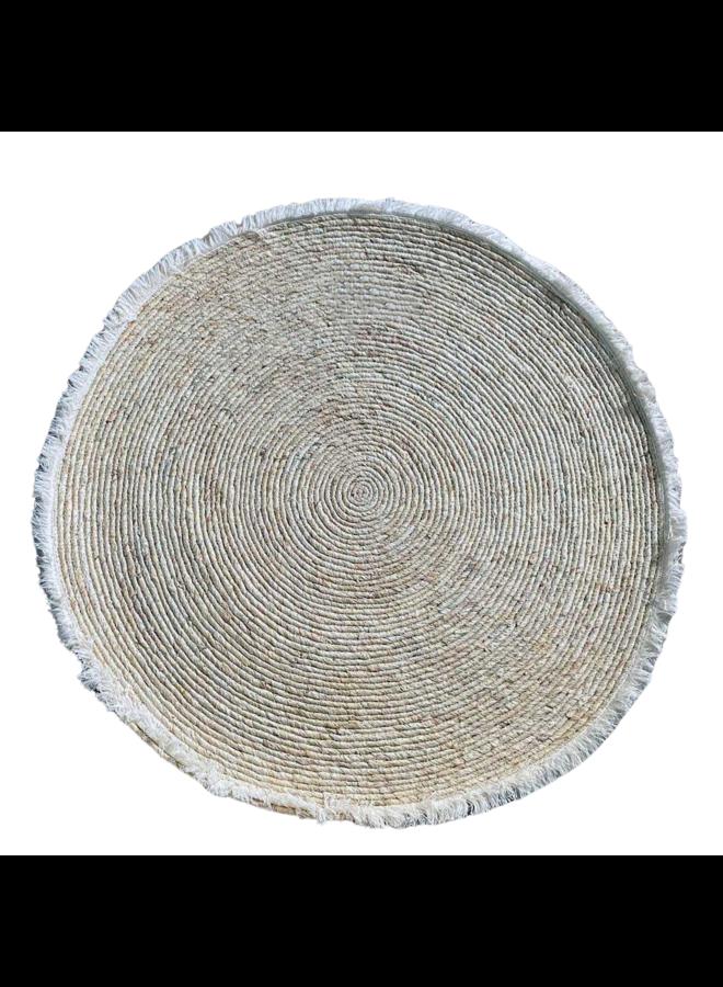 Rieten cirkel offwhite 100cm