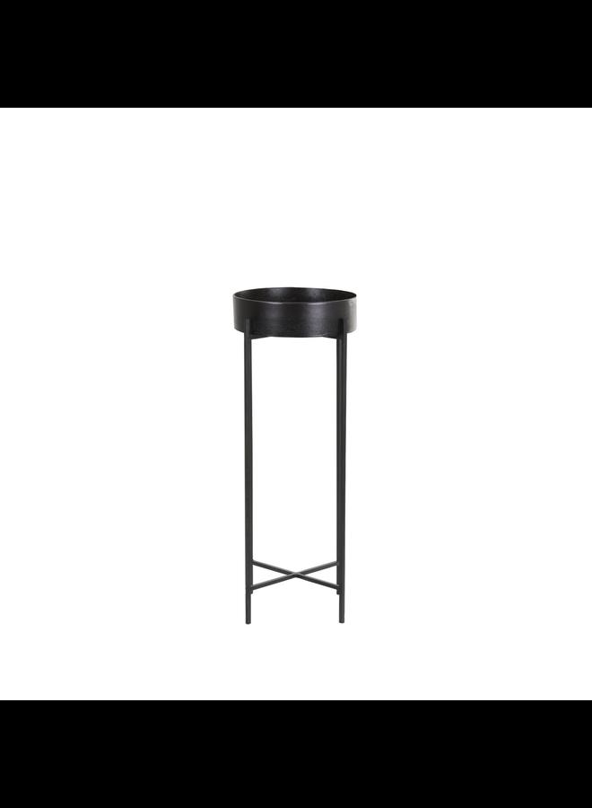 Zuil Donnely mat zwart 30x30x80 cm