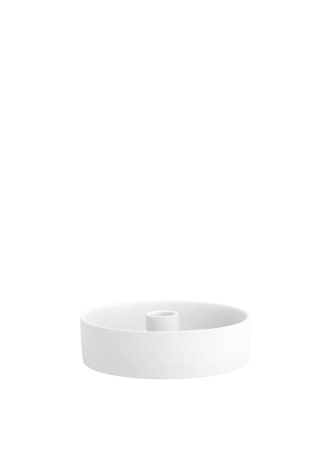 storm white lantern/candlestick bottom white dia 15cm