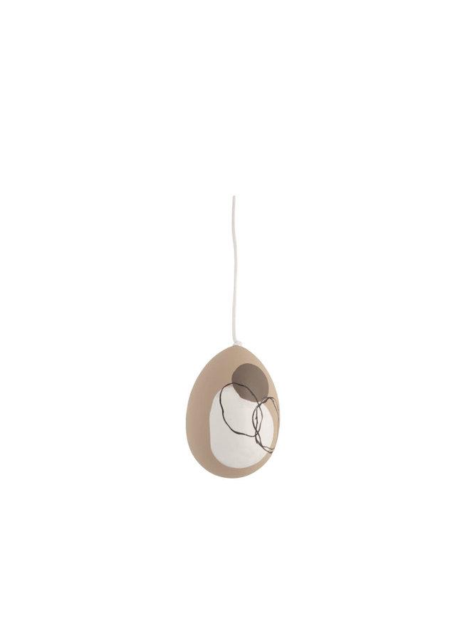 Ljungby Egg motif circle 5 × 5 × 7 cm