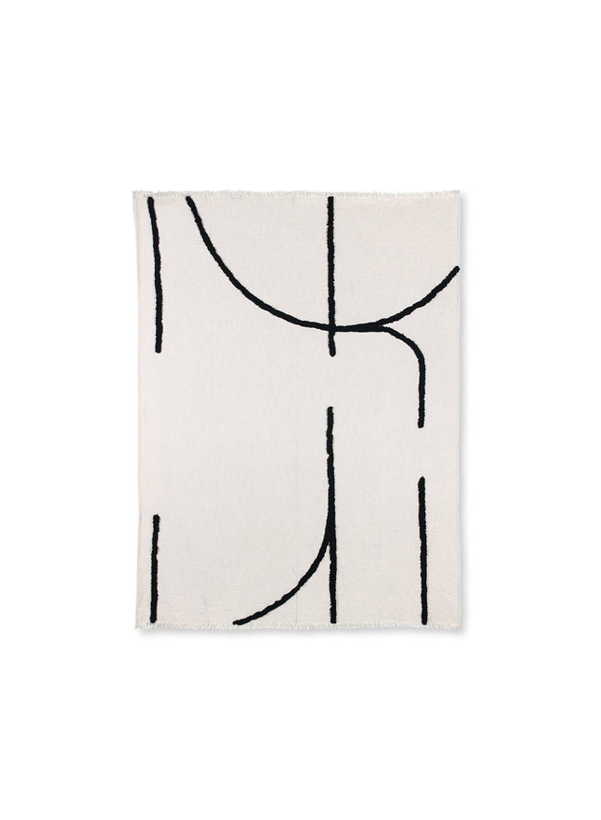 throw tufted black lines ( 130x170 )