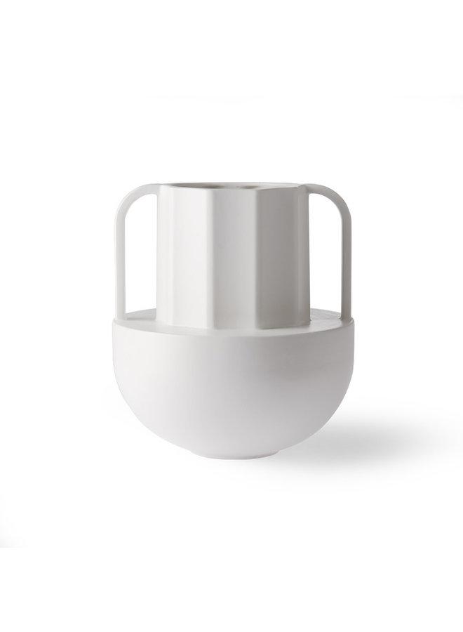 Vase ceramic white greek D
