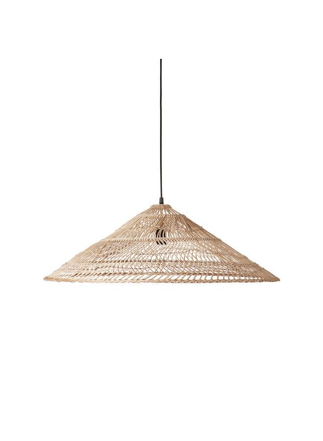 Wicker pendant lamp triangel naturel L