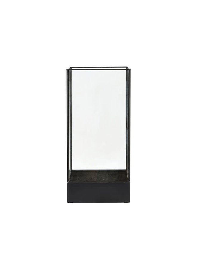 Display box black antique 21x21cm/hg 45cm