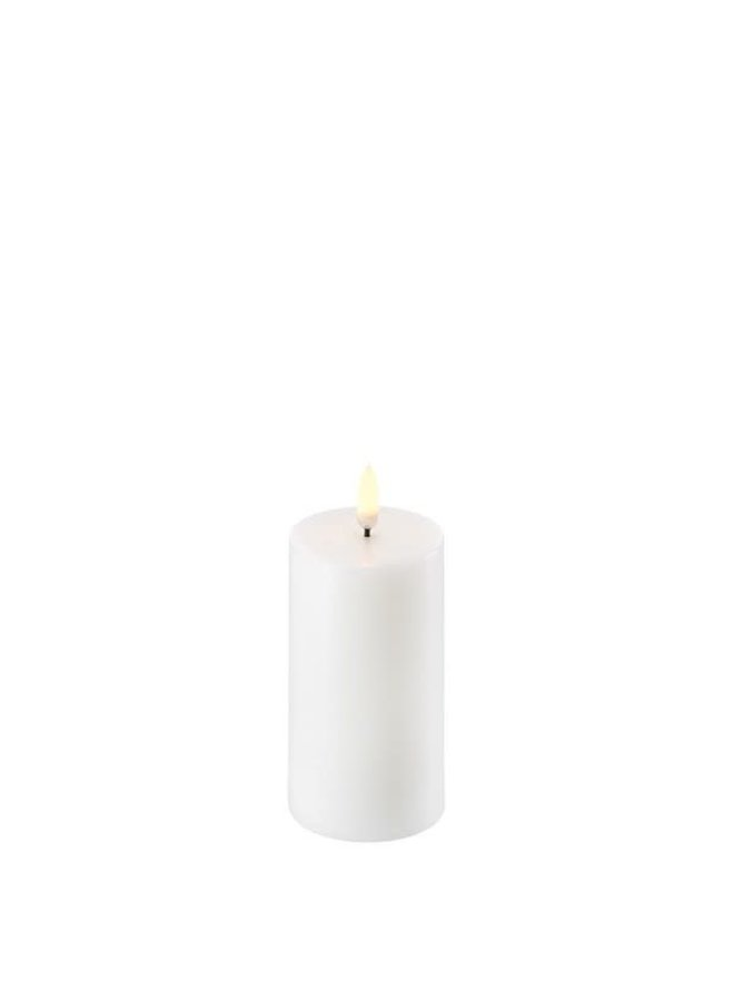 Uyuni Led pillar candle 5.8x hg 10.1cm Nordic White ( AA-batteries)