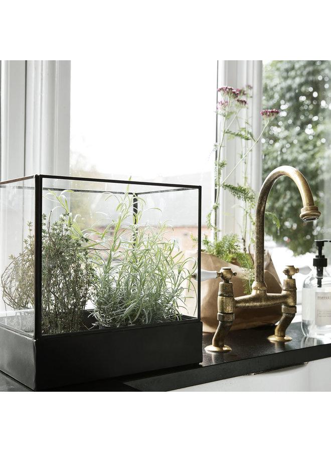 Display box black antique 30x20cm/ hg 30cm