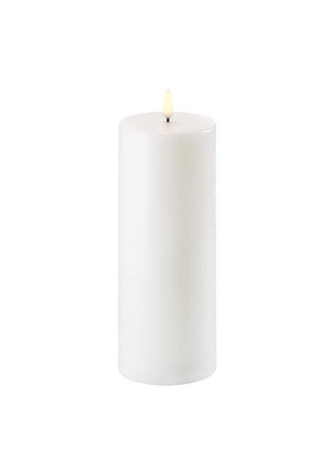 LED PILLAR CANDLE - NORDIC WHITE - Ø7,8 x 20 CM (C-Batteries)