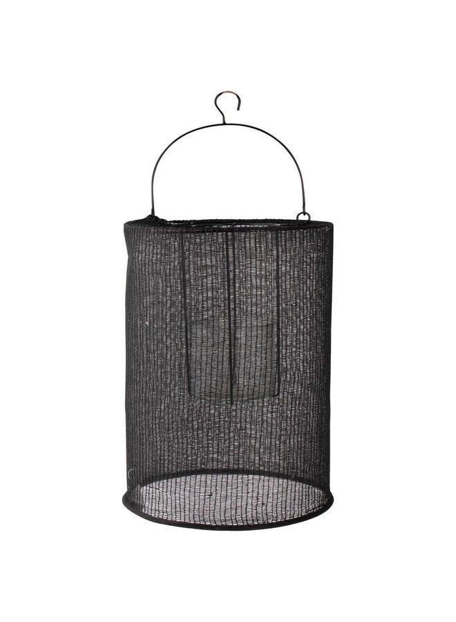 Lantaarn katoen zwart 24x36cm