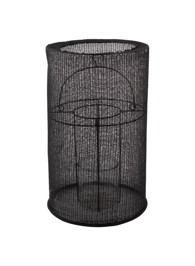 Lantaarn katoen zwart 29x46cm