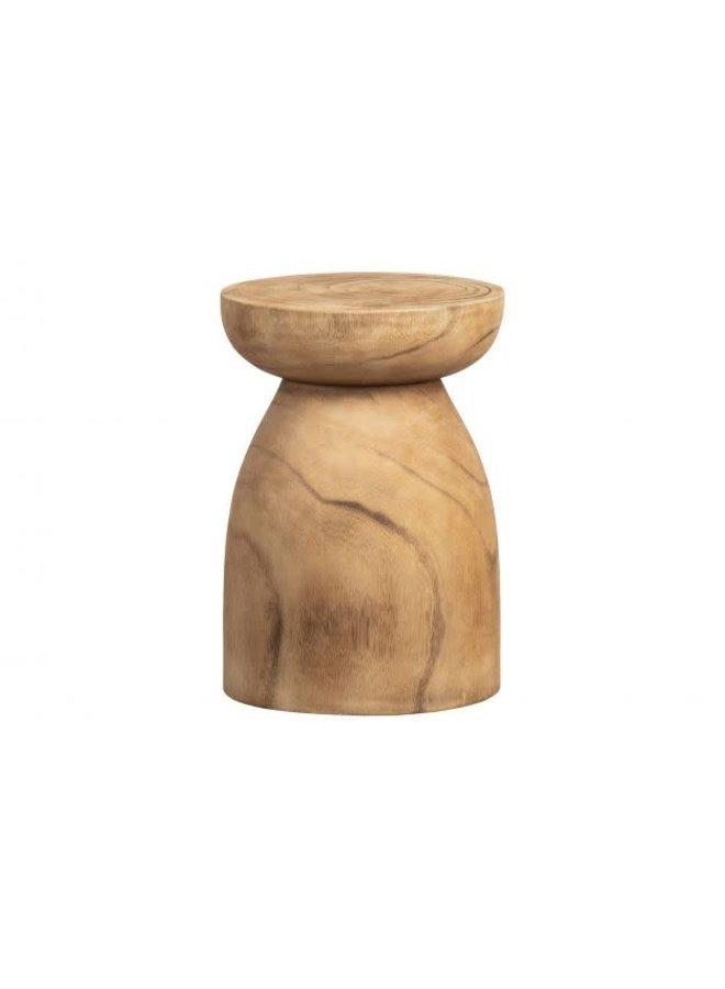 Bink kruk hout naturel 40x28cm