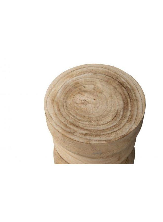 Bikkel kruk hout naturel 40x28cm
