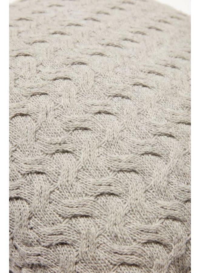 Cushion lambswool grey 50x50cm