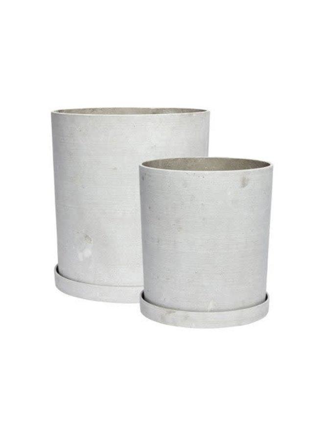 Pot grey 25x28cm
