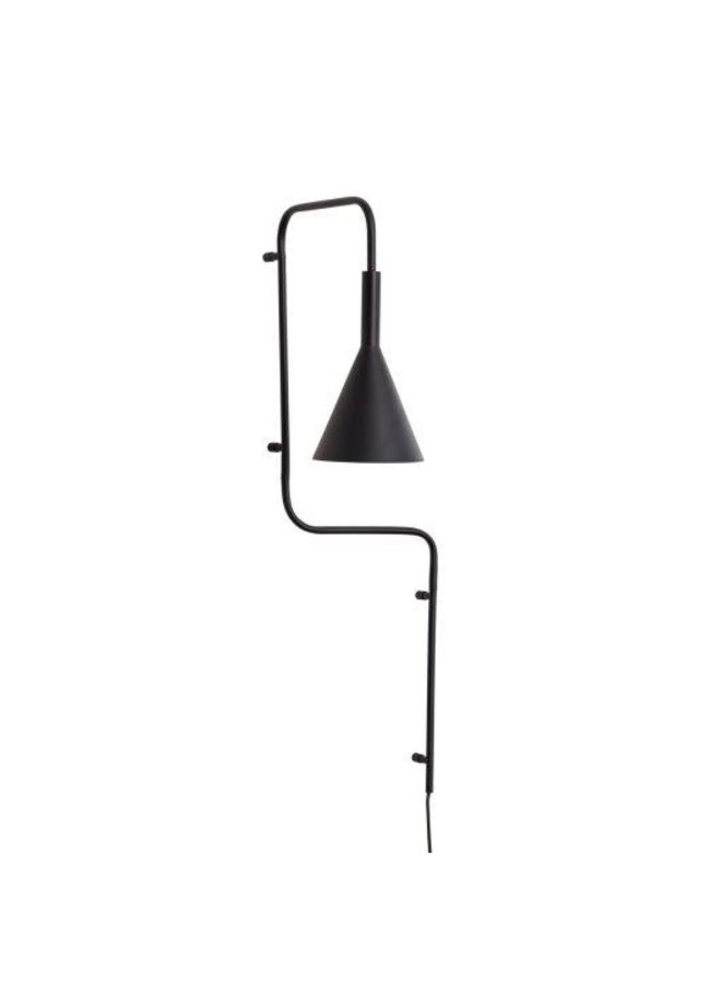 Wall lamp black 37x25x81cm