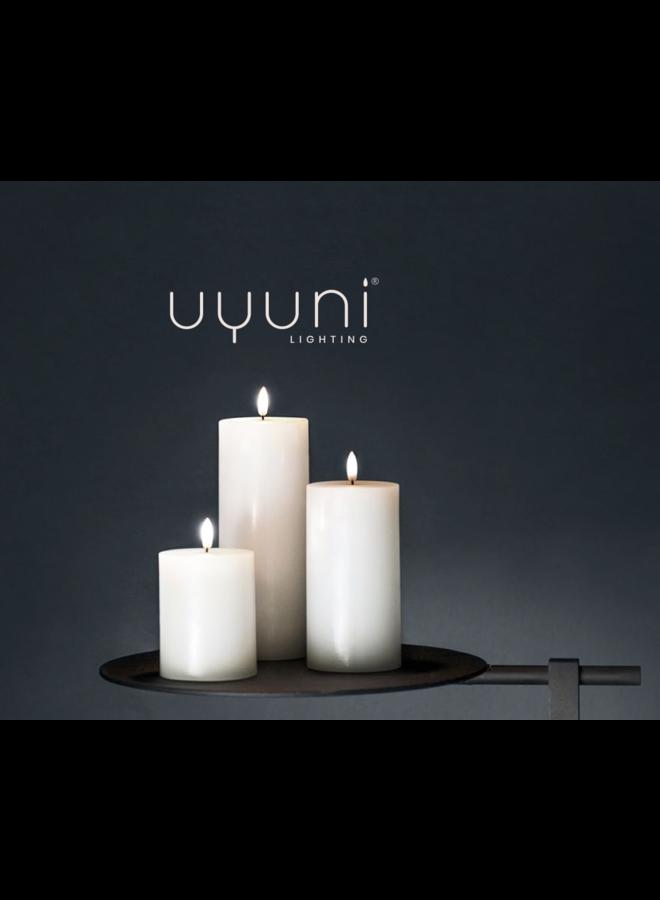 Uyuni lighting Led pilar candle Nordic White 10.1 x 10 cm