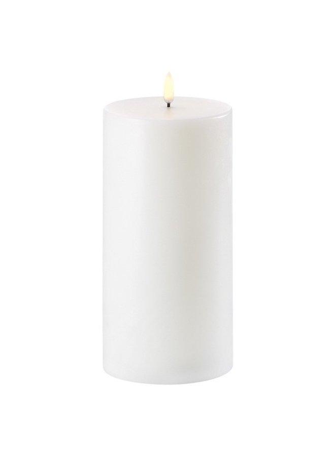 Uyuni Lighting LED Pilar Candle 10 x 25 cm Nordic White