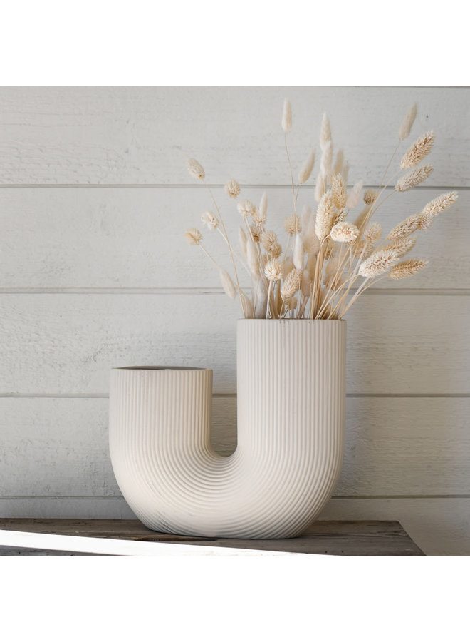 Strávalla - Beige ceramic vase
