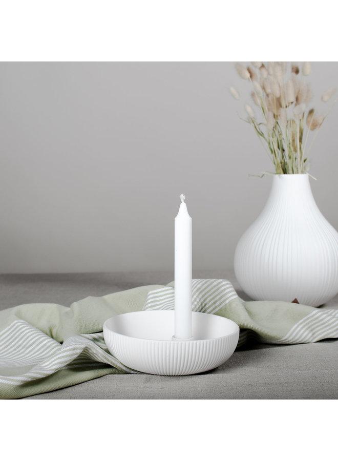 Lidatorp - Jubileum - Small white candlestick