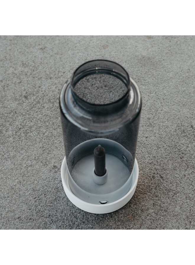 Storm - Grey glasscylinder with edge