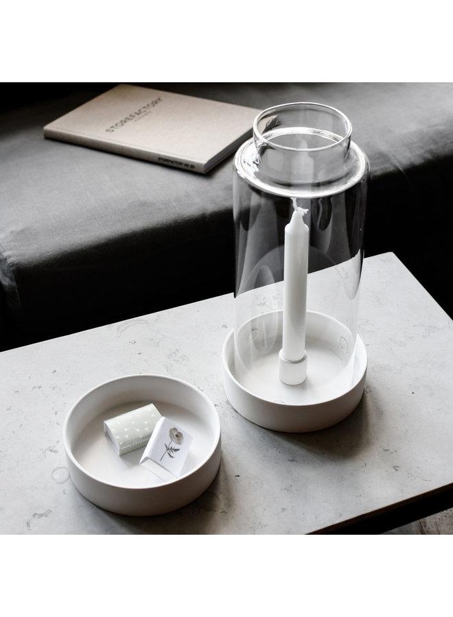 Storm - White lantern/candlestick bottom