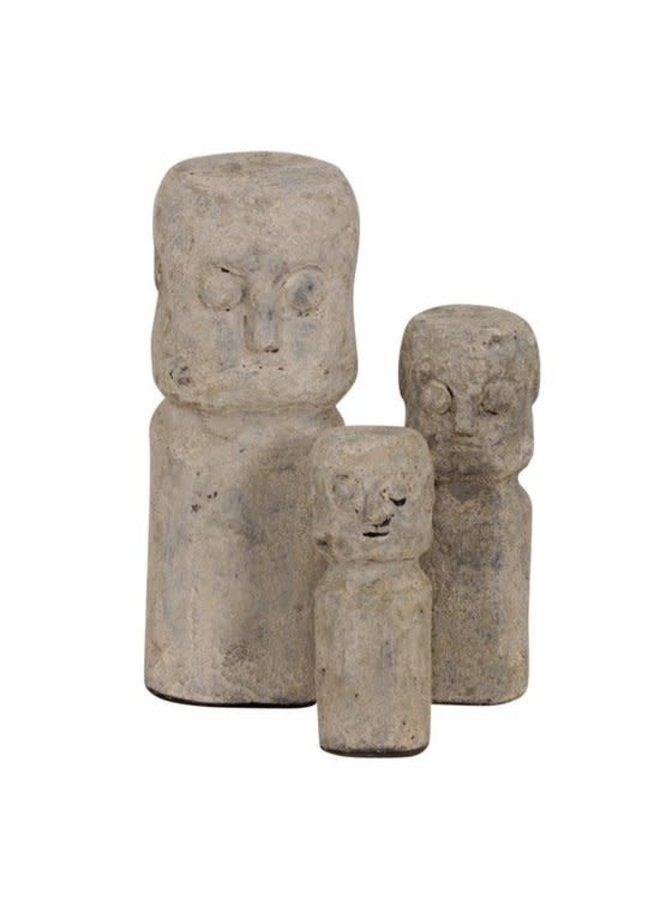 Ceramic Sumba Statue L Cream