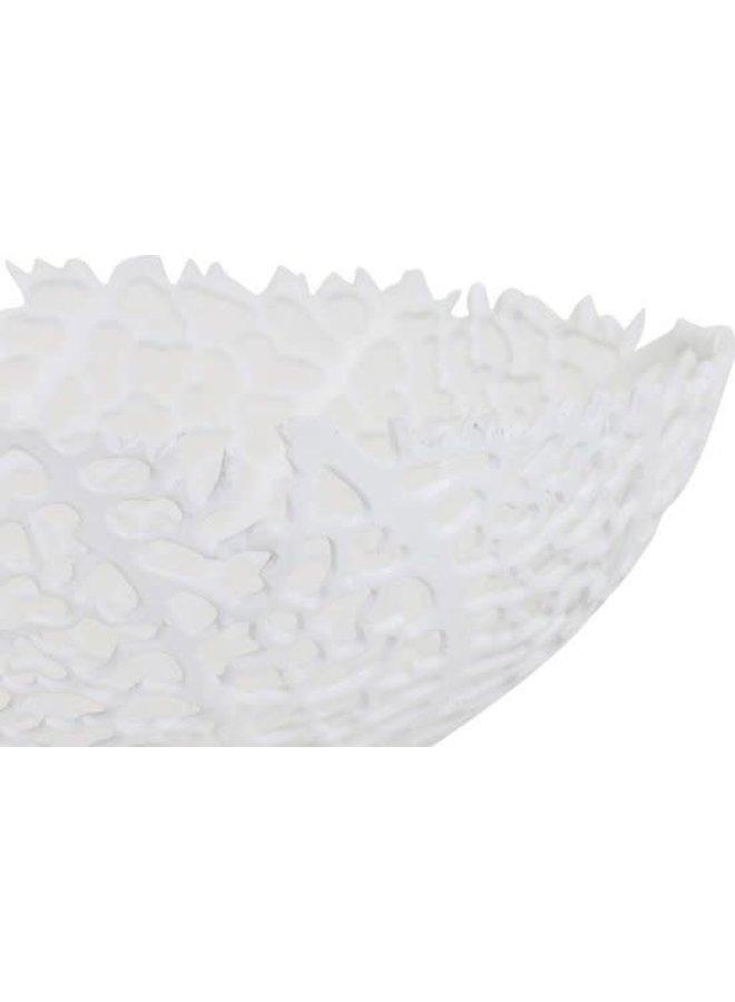 Schaal Ø46x18 cm GALAXA mat wit
