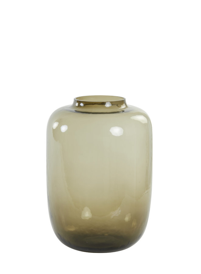 Vaas Ø24x34 cm KOBALA glas bruin