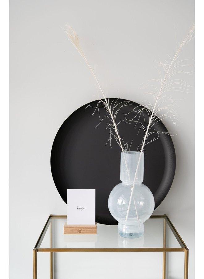 glazen bolvaas 17x30cm wit