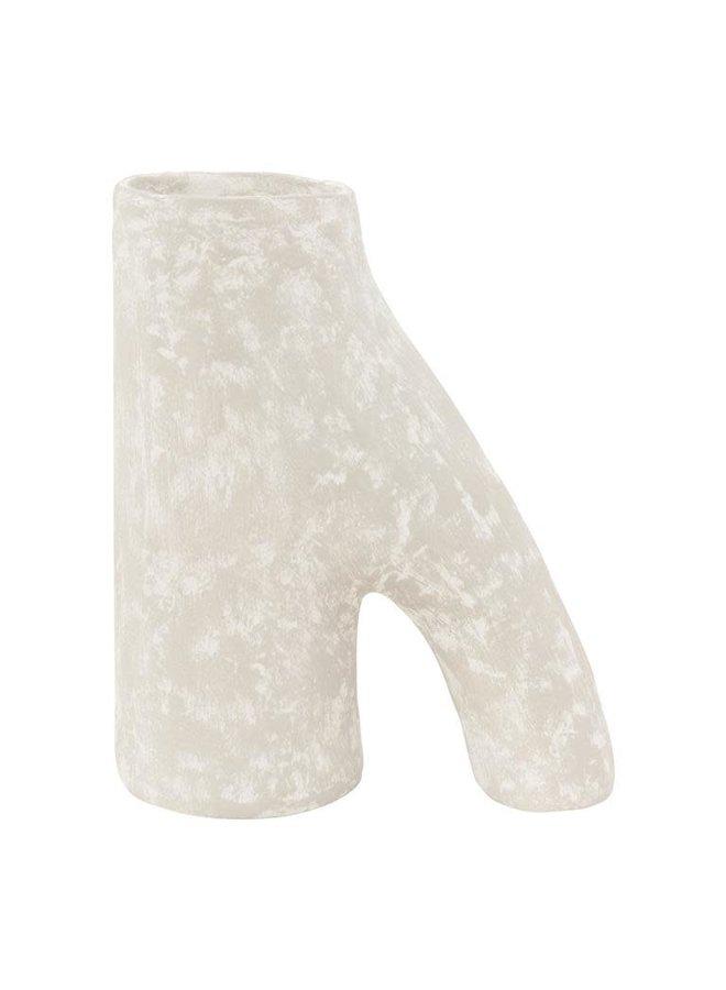 Ecomix vase twig L egg white 24x12x29cm