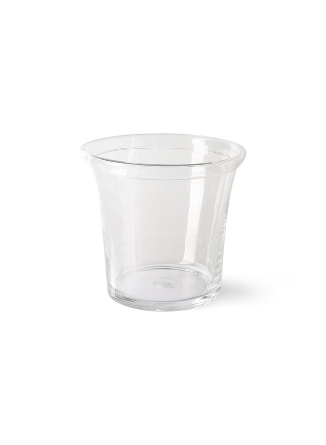 Solid glass flower pot ∅26cm