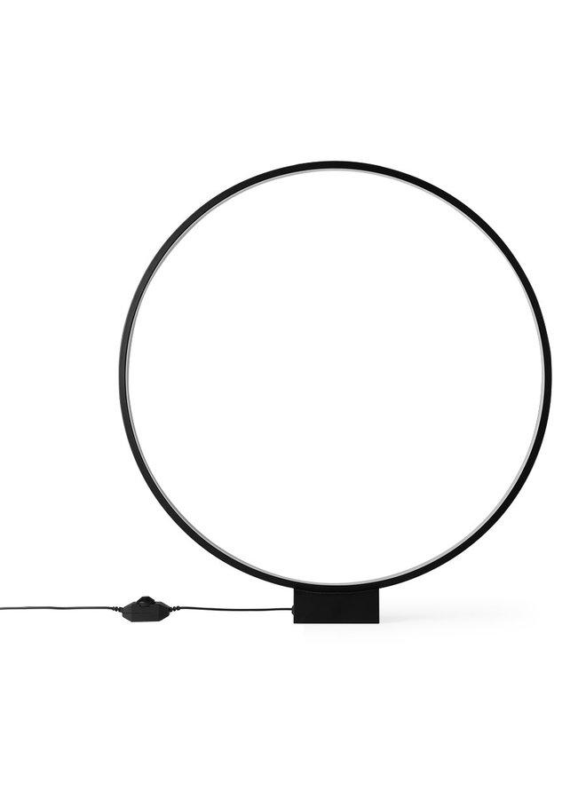 Luminous circle table lamp black