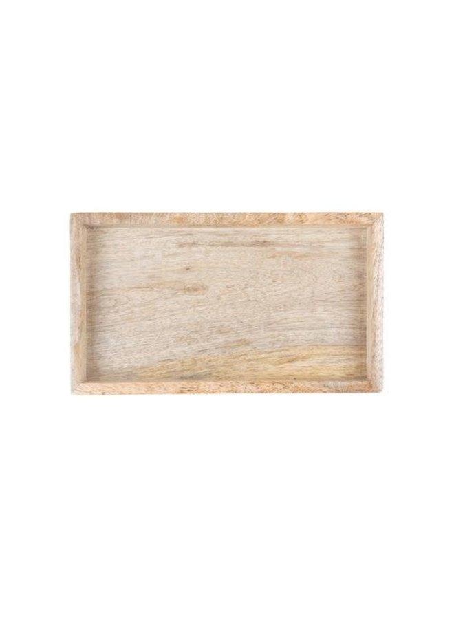 Houten dienblad 19,5x2,5x11 cm