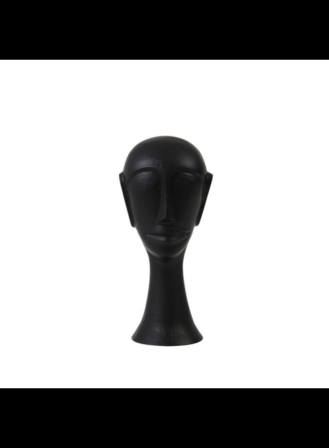 Ornament 10,5x10x22,5 cm HEAD zwart