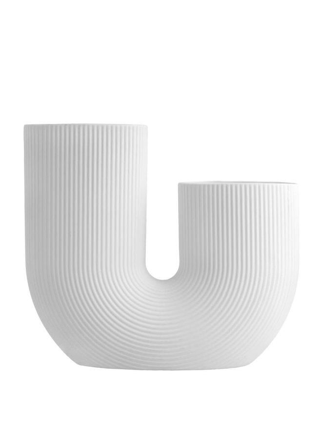 Stråvalla - White ceramic vase