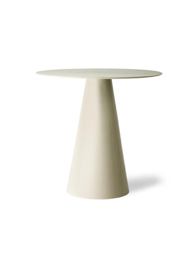 cream metal side table L