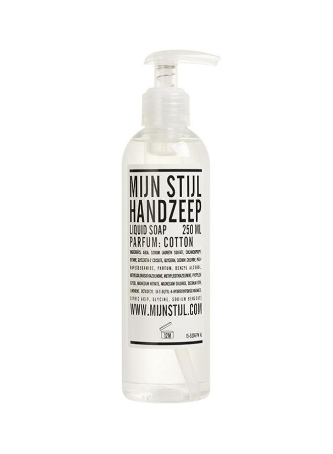 Handzeep transparant parfum Cotton 250 ml (wit etiket)