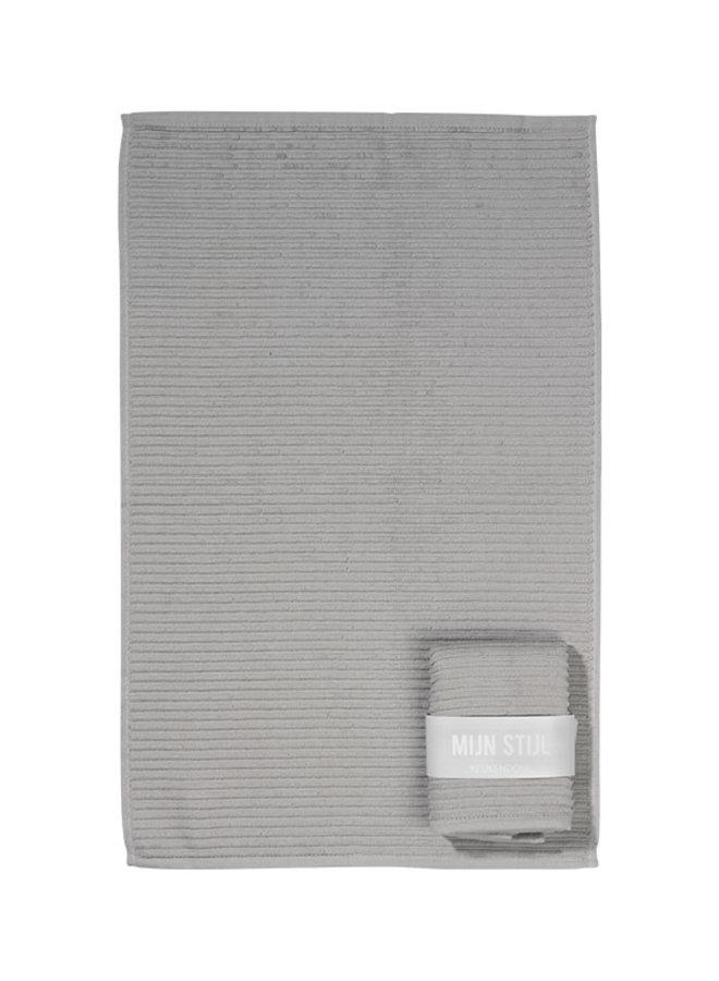 Handdoek (keuken) licht grijs met banderol