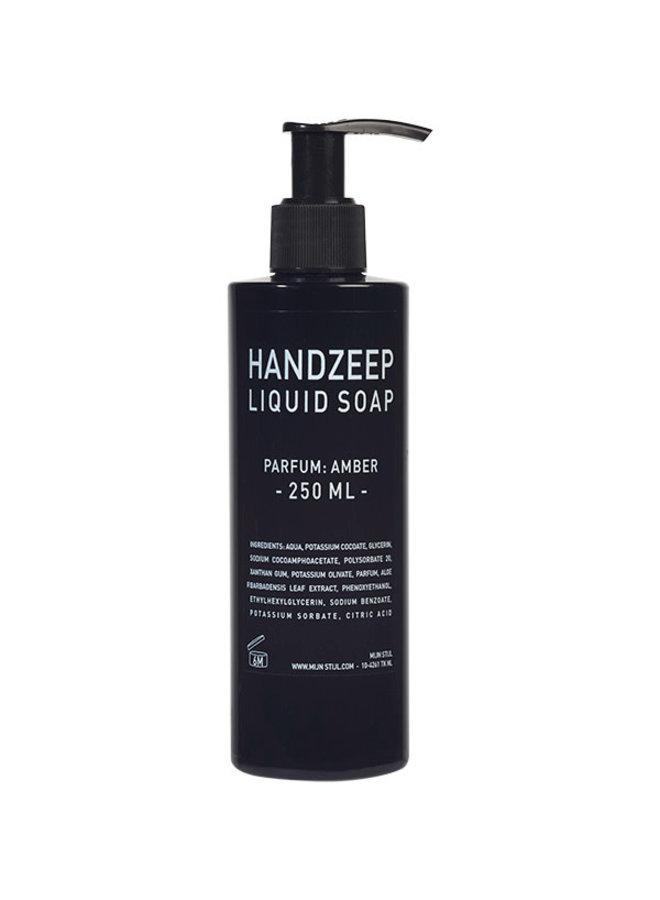 Handzeep 250 ml zwarte glans parfum Amber