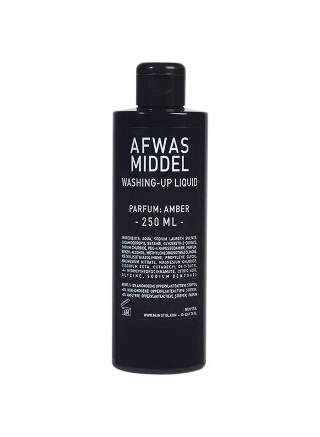 Afwasmiddel 250 ml zwarte glans parfum Amber