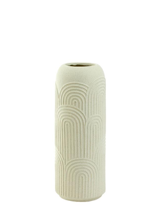 Vaas Ø15,5x41 cm DIEGO keramiek crème