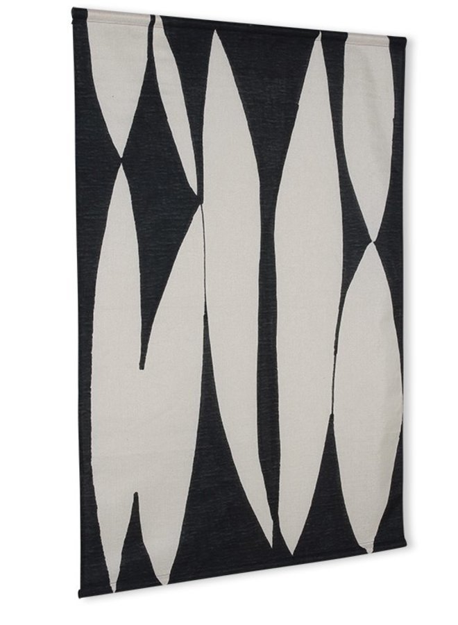 Abstract wall art black/white