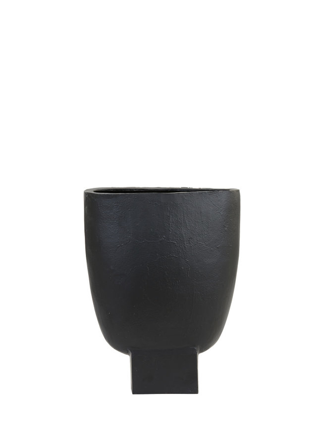 Vaas 30x11x41 cm PARTIDA mat zwart