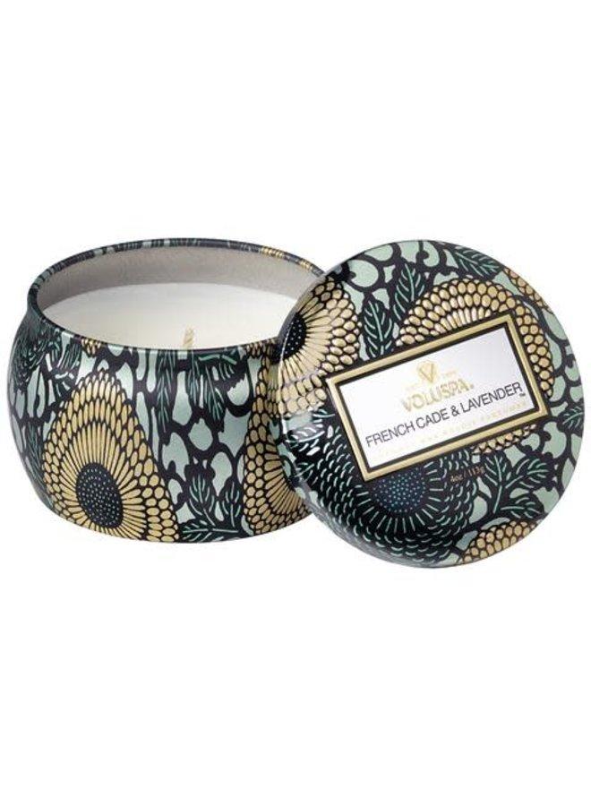 French Cade Lavender mini decorative tin candle