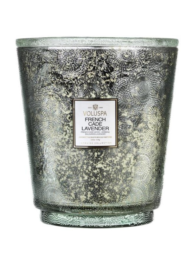 French Cade Lavender Heart 5 wick candle
