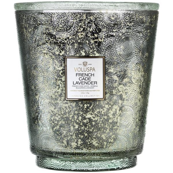 French Cade Lavender Heart 5 wick candle-1