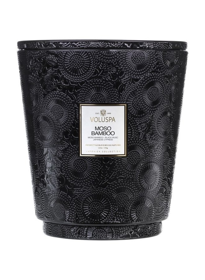 Moso Bamboo Heart 5 wick candle