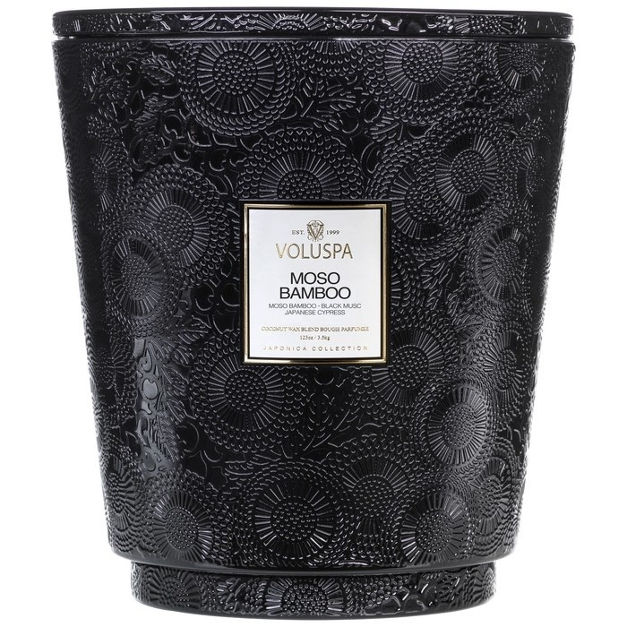 Moso Bamboo Heart 5 wick candle-1