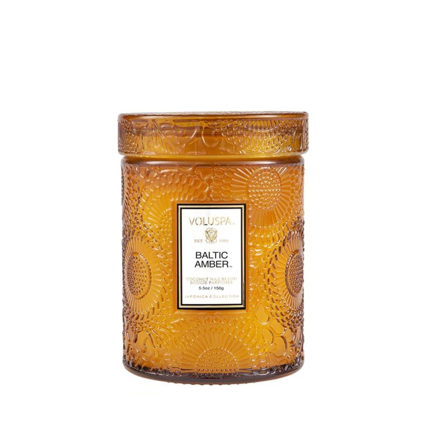 Baltic Amber 5.5 glass Jar candle-1