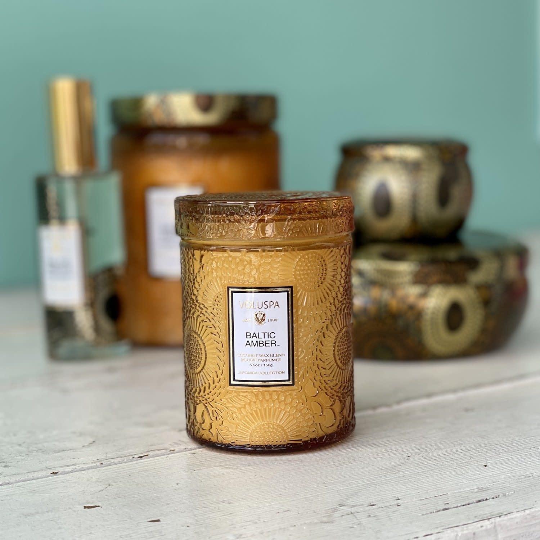 Baltic Amber 5.5 glass Jar candle-2