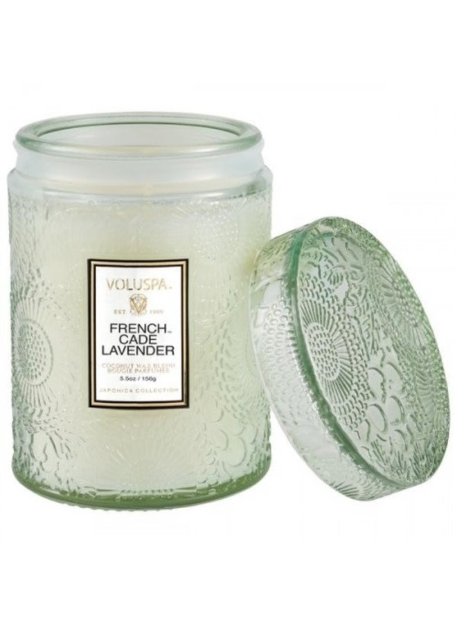 French Cade Lavender 5.5 Glass Jar Candle